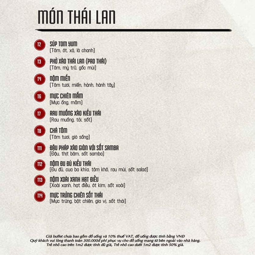 Menu Á Gia – Quang Trung 10