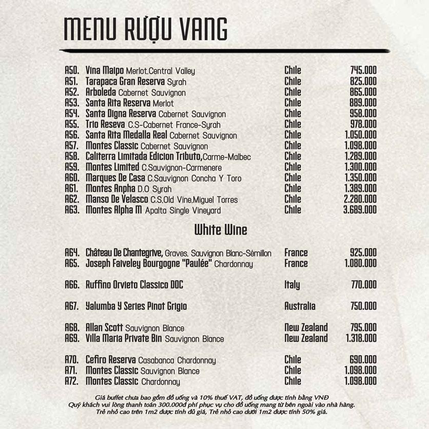 Menu Á Gia – Quang Trung 17