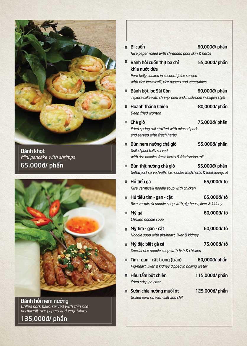 Menu Món Ngon Sài Thành - Huỳnh Thúc Kháng 3