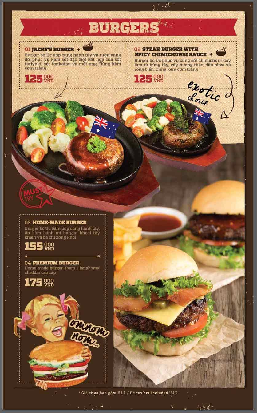 Menu Cowboy Jack's American Dining - Mipec Tây Sơn 3