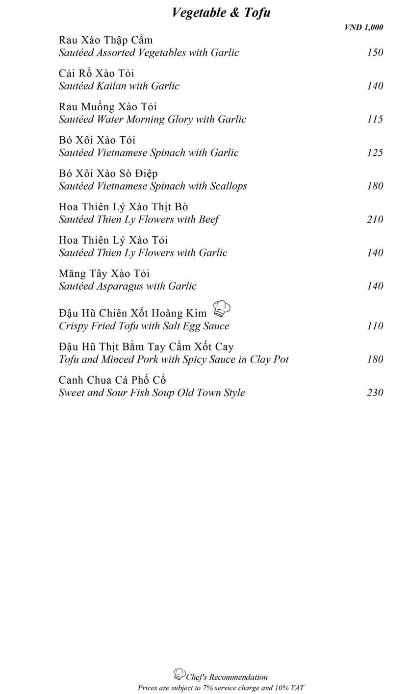 Menu Mandarine -  Ngô Văn Năm 16