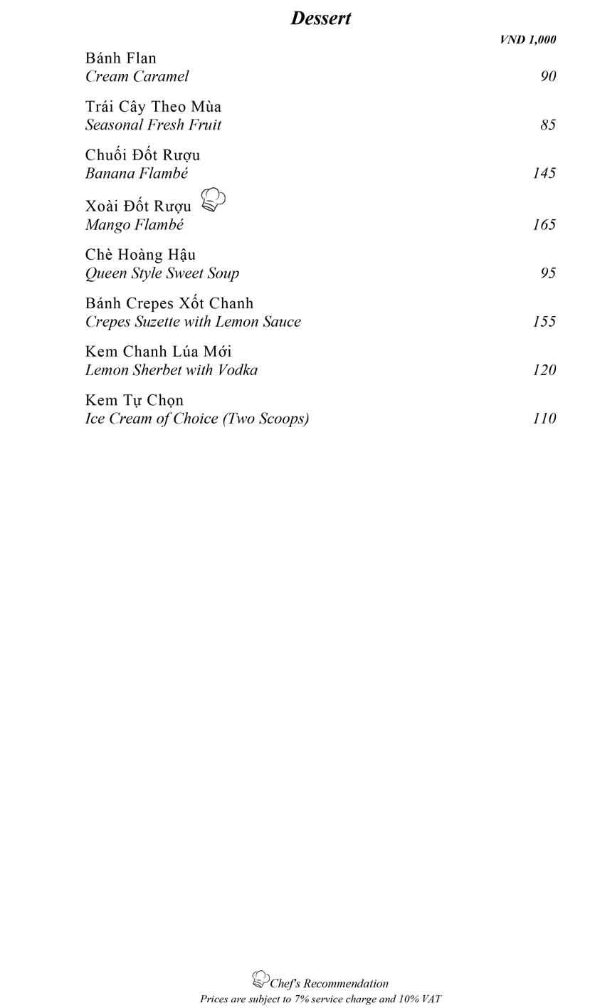 Menu Mandarine -  Ngô Văn Năm 19