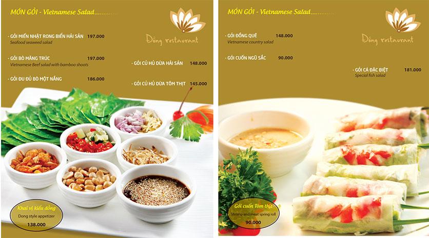 Menu Đồng Restaurant – Lê Quý Đôn 2