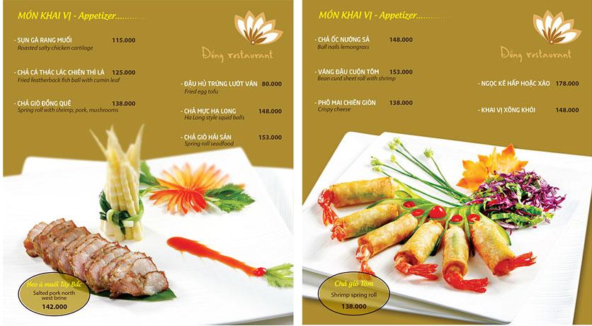 Menu Đồng Restaurant – Lê Quý Đôn 3