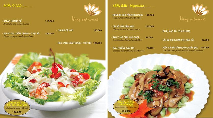 Menu Đồng Restaurant – Lê Quý Đôn 4