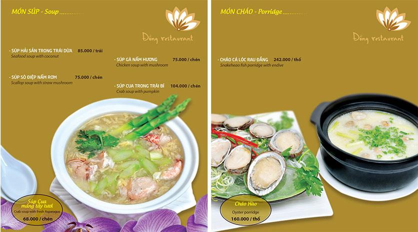 Menu Đồng Restaurant – Lê Quý Đôn 5