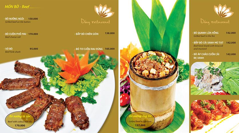 Menu Đồng Restaurant – Lê Quý Đôn 6