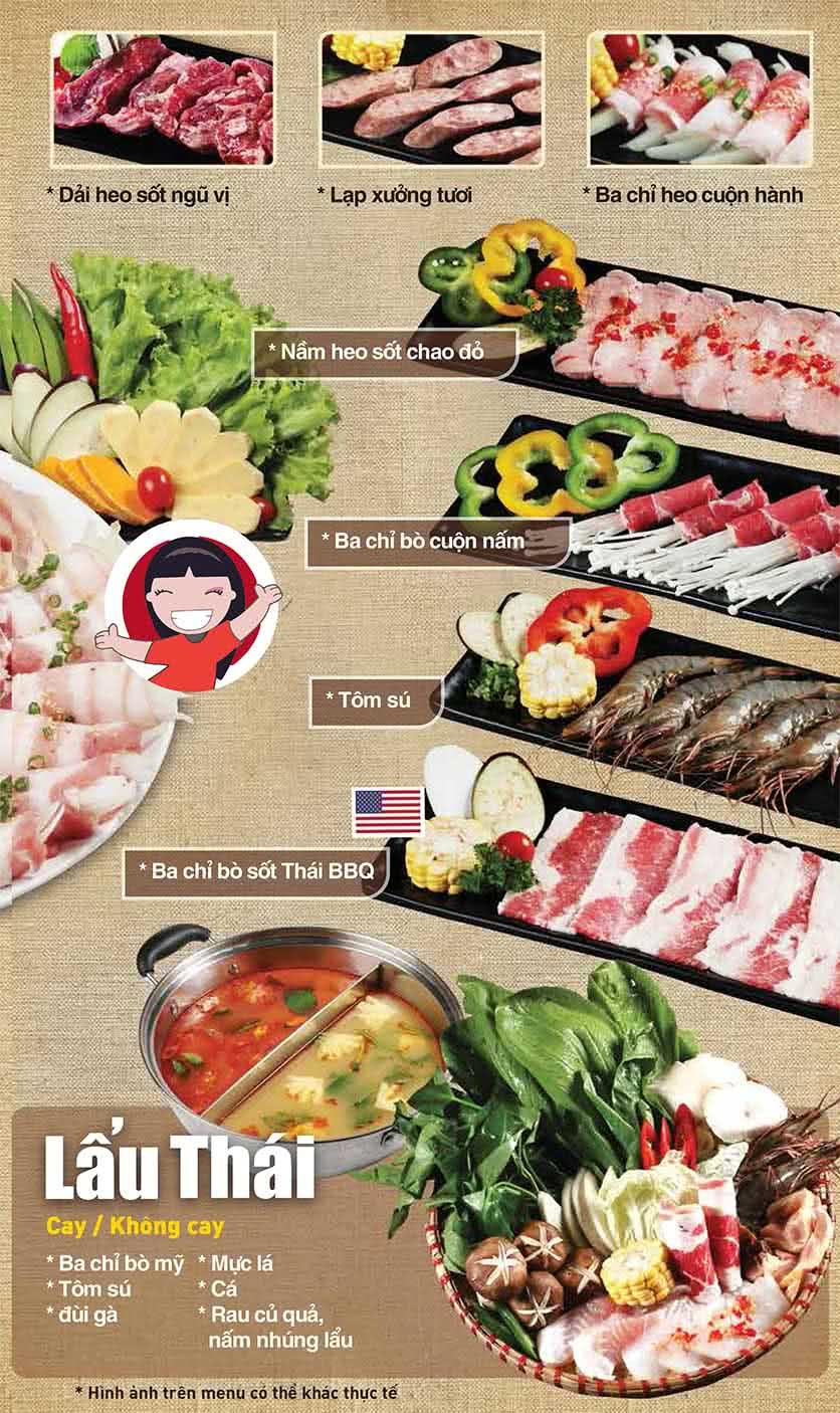 Menu Thái BBQ - Vincom Center 2
