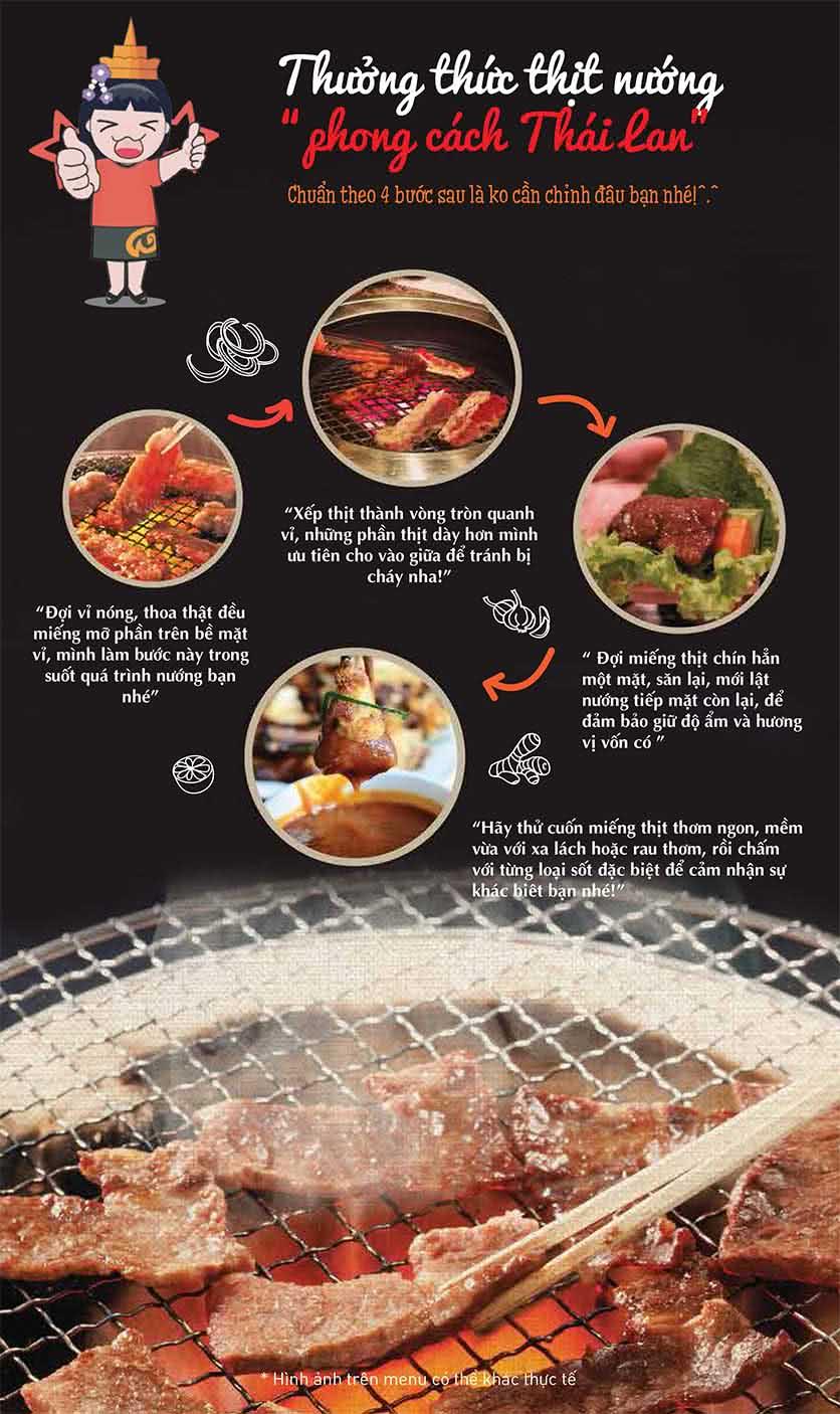 Menu Thái BBQ - Vincom Center 5