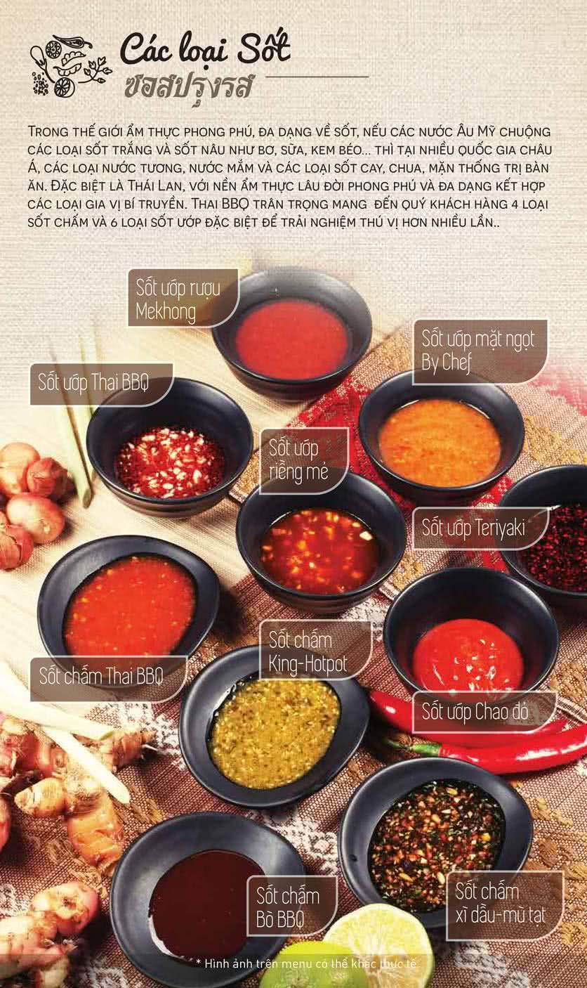 Menu Thái BBQ - Vincom Center 6