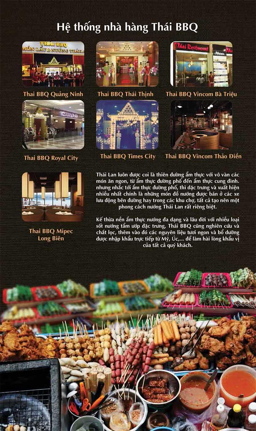 Menu Thái BBQ - Vincom Center 10