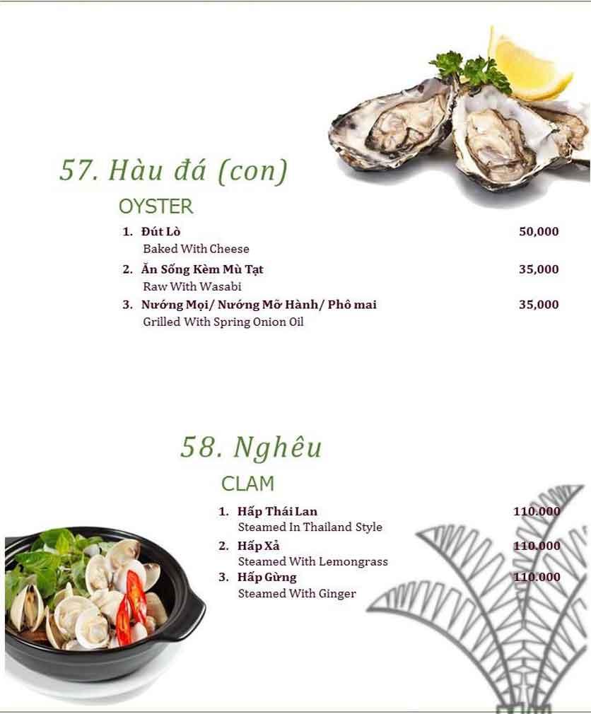 Menu Làng ẩm thực Cù Lao Xanh - Nguyễn Đức Cảnh 10