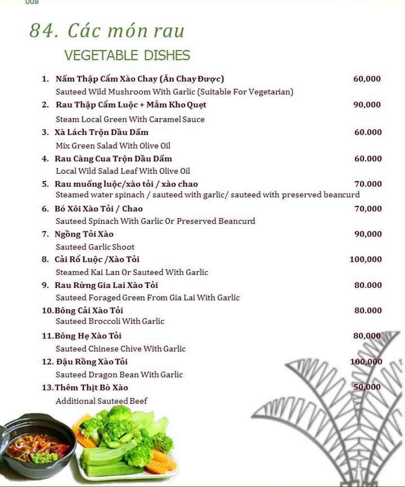 Menu Làng ẩm thực Cù Lao Xanh - Nguyễn Đức Cảnh 11