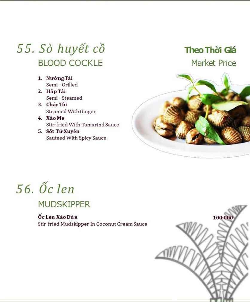 Menu Làng ẩm thực Cù Lao Xanh - Nguyễn Đức Cảnh 12