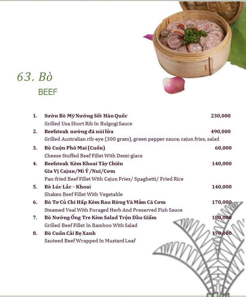 Menu Làng ẩm thực Cù Lao Xanh - Nguyễn Đức Cảnh 14