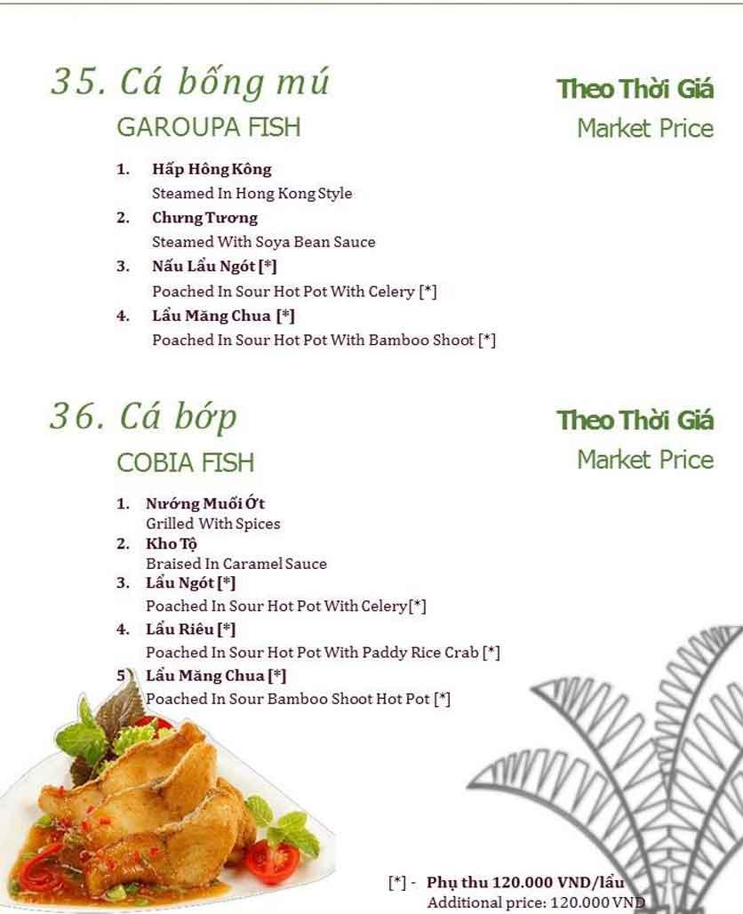 Menu Làng ẩm thực Cù Lao Xanh - Nguyễn Đức Cảnh 15
