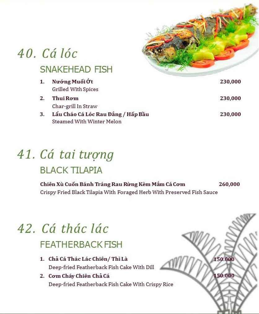 Menu Làng ẩm thực Cù Lao Xanh - Nguyễn Đức Cảnh 16