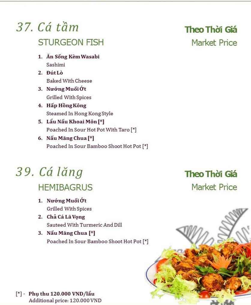 Menu Làng ẩm thực Cù Lao Xanh - Nguyễn Đức Cảnh 17