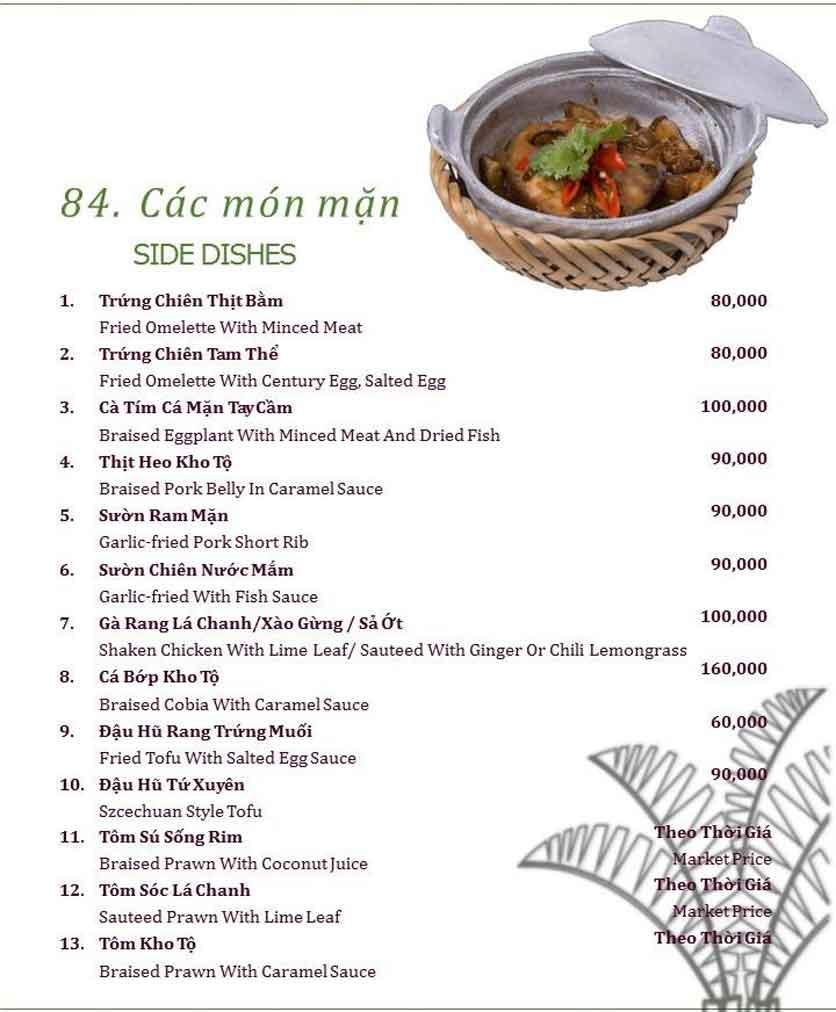 Menu Làng ẩm thực Cù Lao Xanh - Nguyễn Đức Cảnh 18