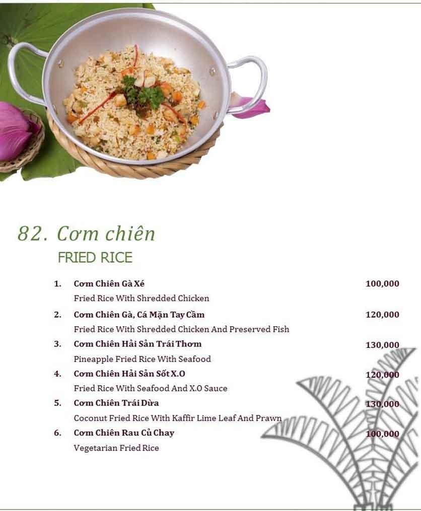 Menu Làng ẩm thực Cù Lao Xanh - Nguyễn Đức Cảnh 19