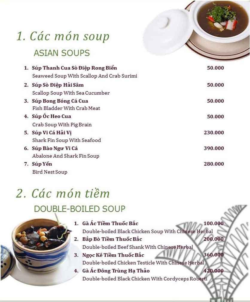 Menu Làng ẩm thực Cù Lao Xanh - Nguyễn Đức Cảnh 2