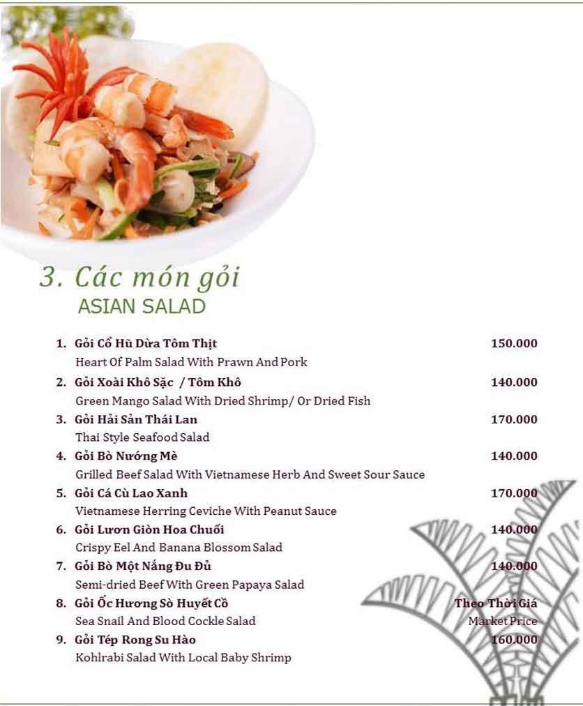 Menu Làng ẩm thực Cù Lao Xanh - Nguyễn Đức Cảnh 3