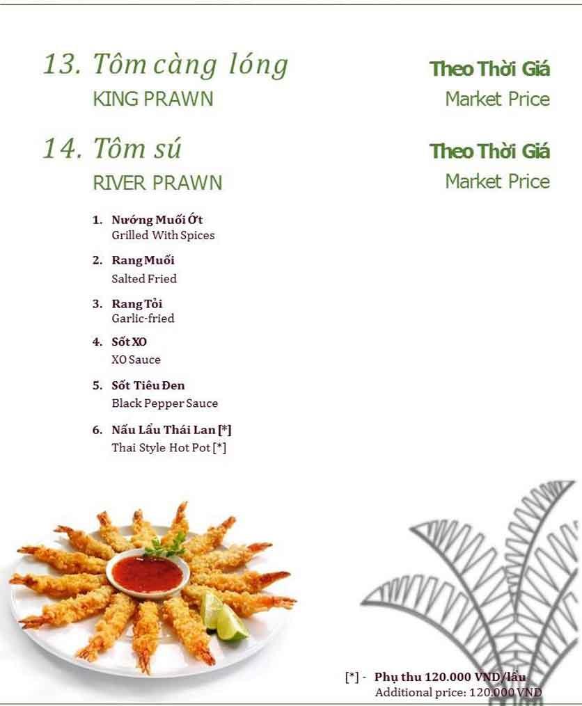Menu Làng ẩm thực Cù Lao Xanh - Nguyễn Đức Cảnh 4