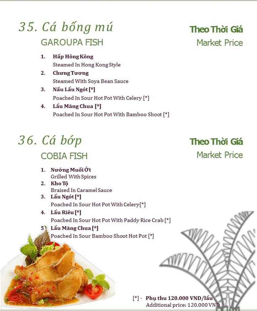 Menu Làng ẩm thực Cù Lao Xanh - Nguyễn Đức Cảnh 6
