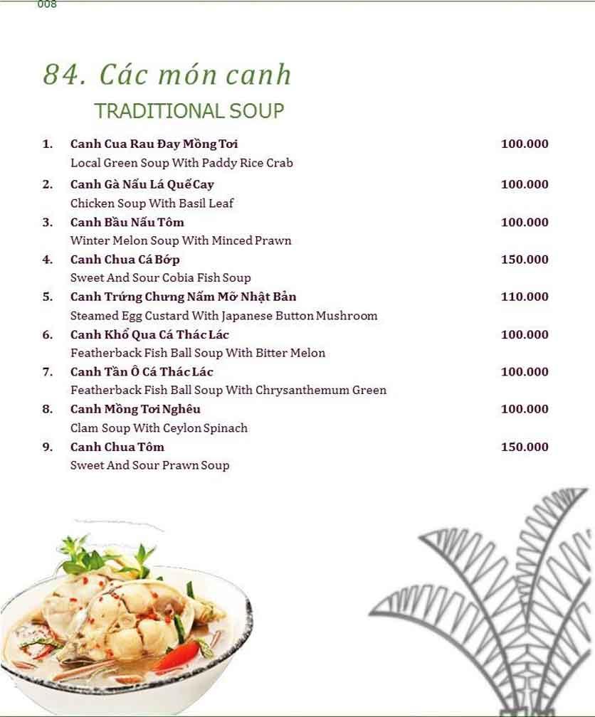 Menu Làng ẩm thực Cù Lao Xanh - Nguyễn Đức Cảnh 8
