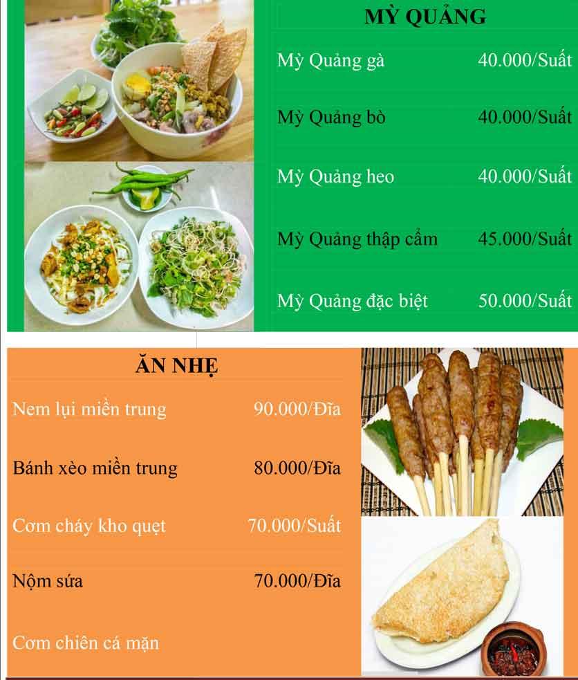 Menu Bánh Tráng Thịt Heo Cô Bống - Tây Sơn 3