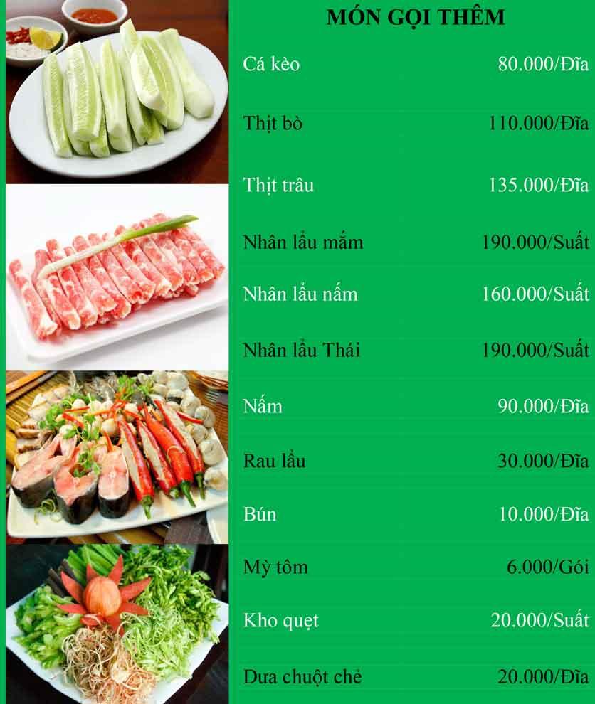Menu Bánh Tráng Thịt Heo Cô Bống - Tây Sơn 6