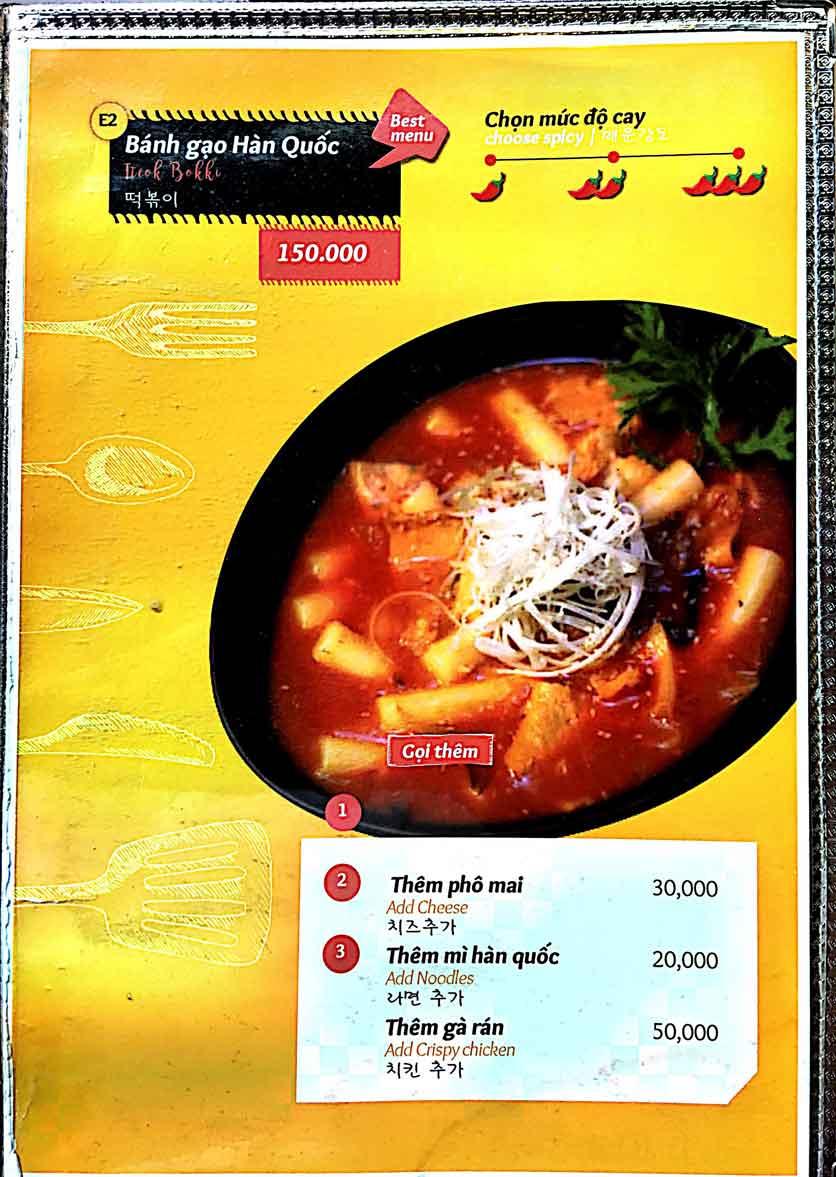 Menu Cocodak Korean Restaurant - Lý Tự Trọng  13