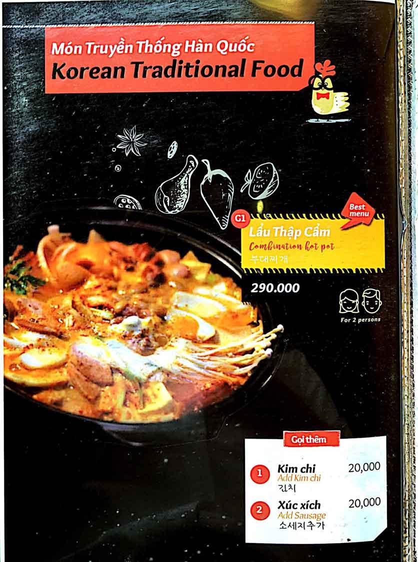 Menu Cocodak Korean Restaurant - Lý Tự Trọng  14