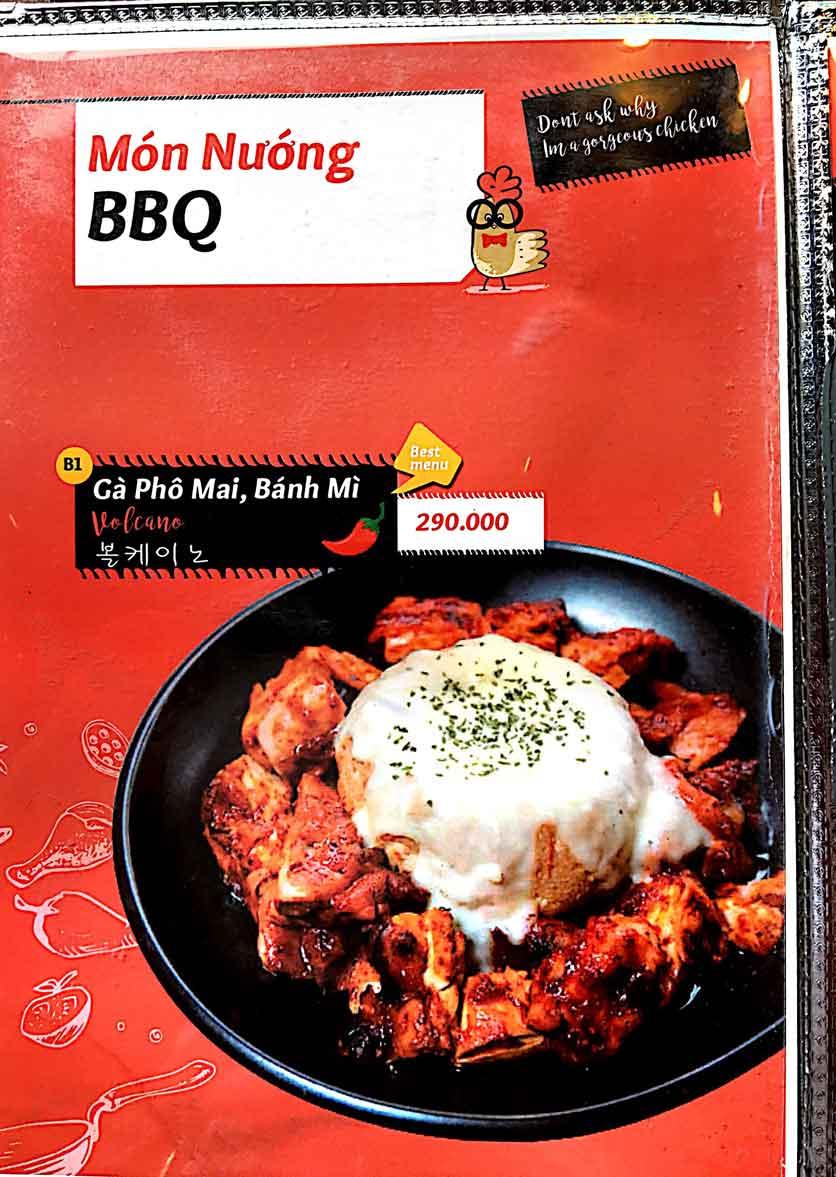 Menu Cocodak Korean Restaurant - Lý Tự Trọng  7