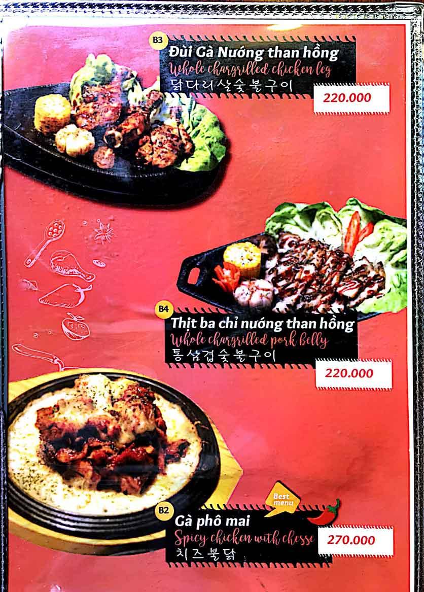 Menu Cocodak Korean Restaurant - Lý Tự Trọng  8