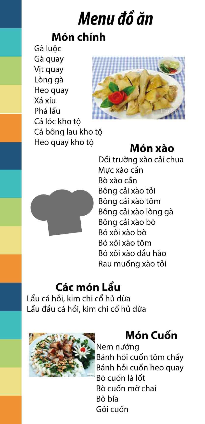 Menu Cơm Gà Thượng Hải  2