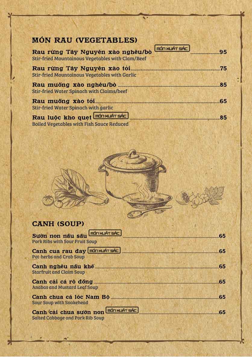Menu Cơm Xưa - Trần Cao Vân 6