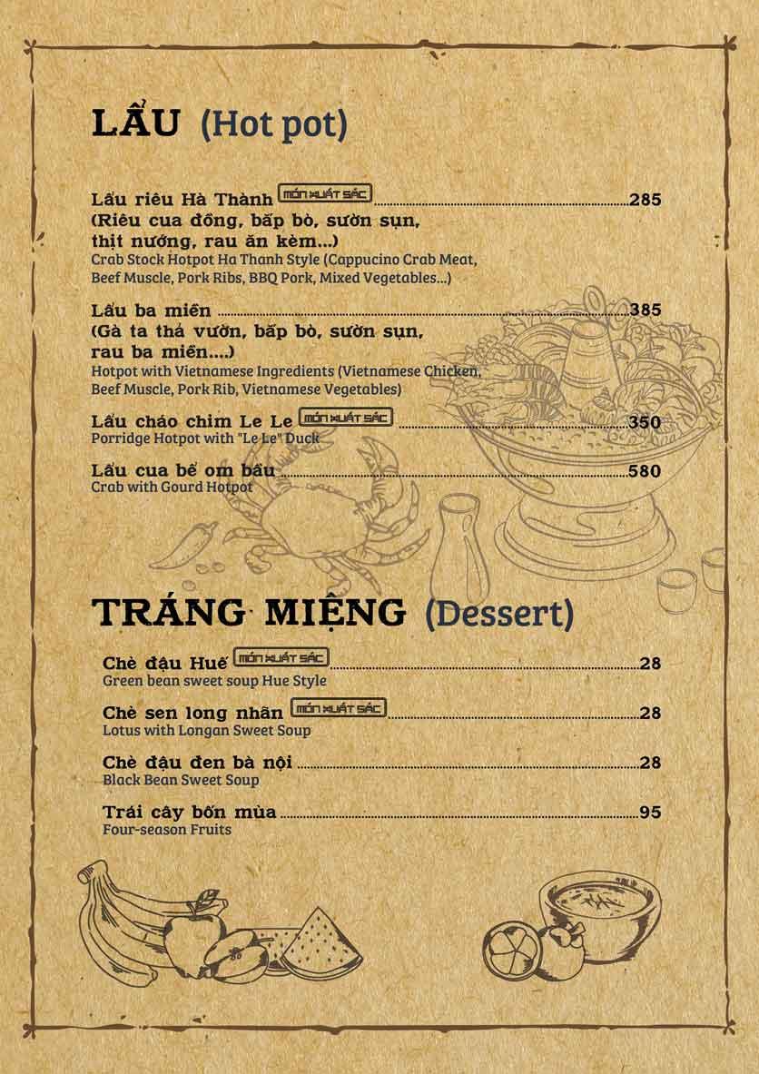 Menu Cơm Xưa - Trần Cao Vân 8