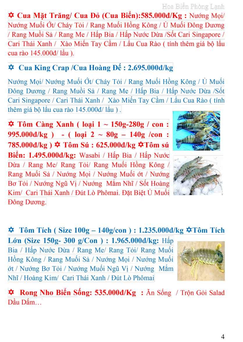 Menu Hoa Biển (Đông Dương cũ) 3