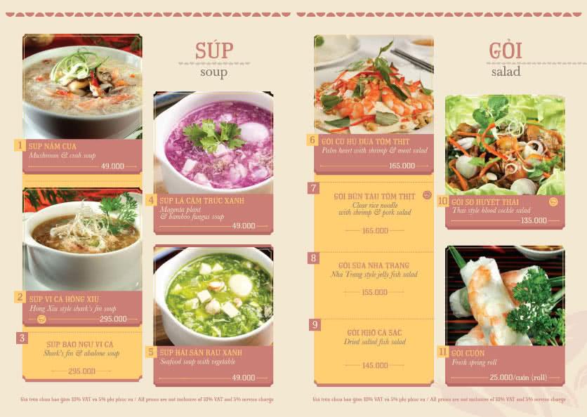 Menu Hoàng Yến Cuisine - Tôn Dật Tiên  1