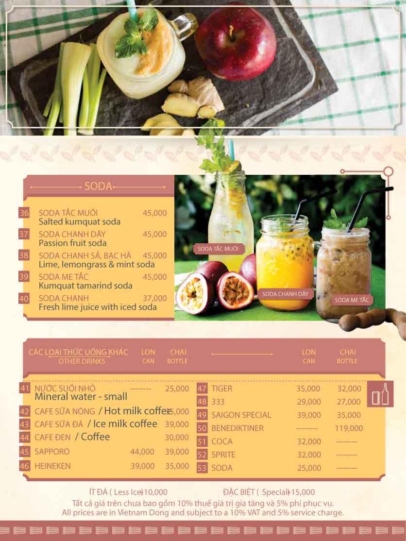 Menu Hoàng Yến Cuisine - Tôn Dật Tiên  20