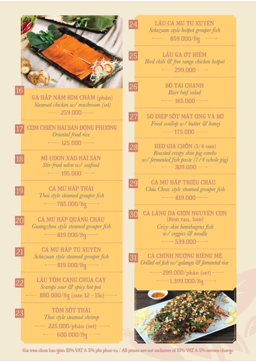Menu Hoàng Yến Cuisine – Hai Bà Trưng  26