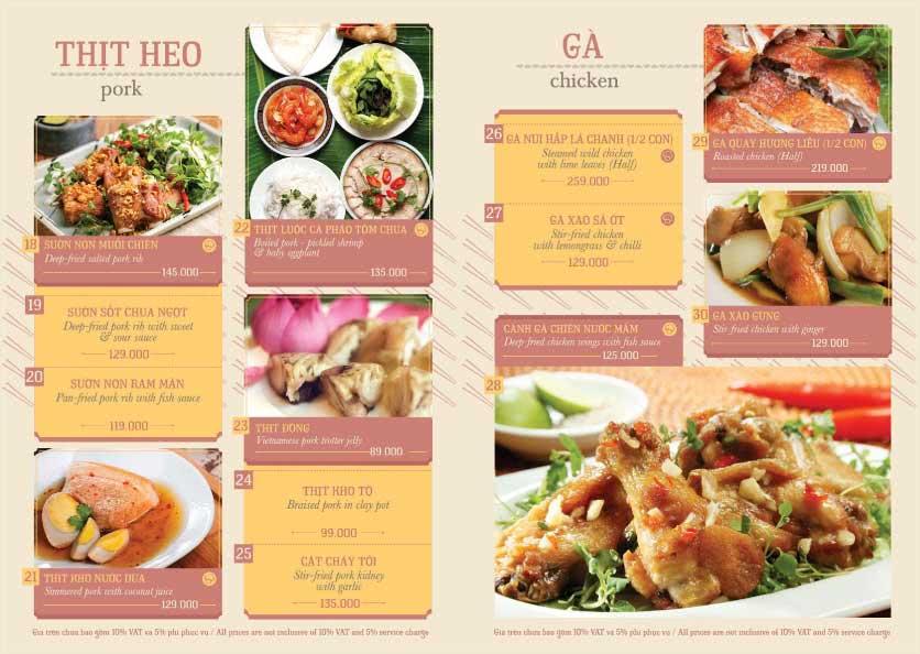 Menu Hoàng Yến Cuisine – Ngô Đức Kế 3