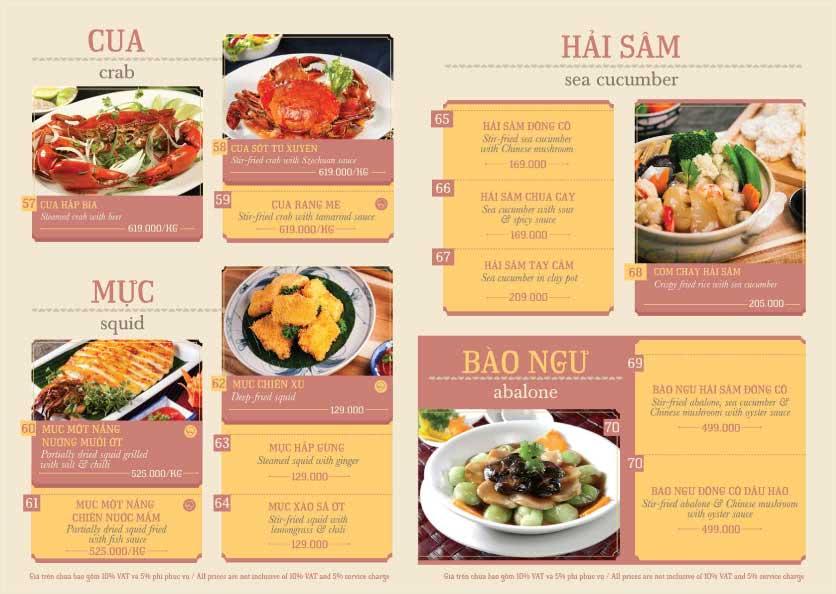 Menu Hoàng Yến Cuisine – Ngô Đức Kế 8