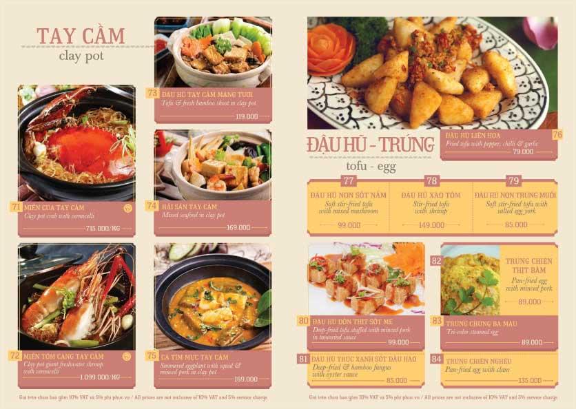 Menu Hoàng Yến Cuisine – Ngô Đức Kế 9
