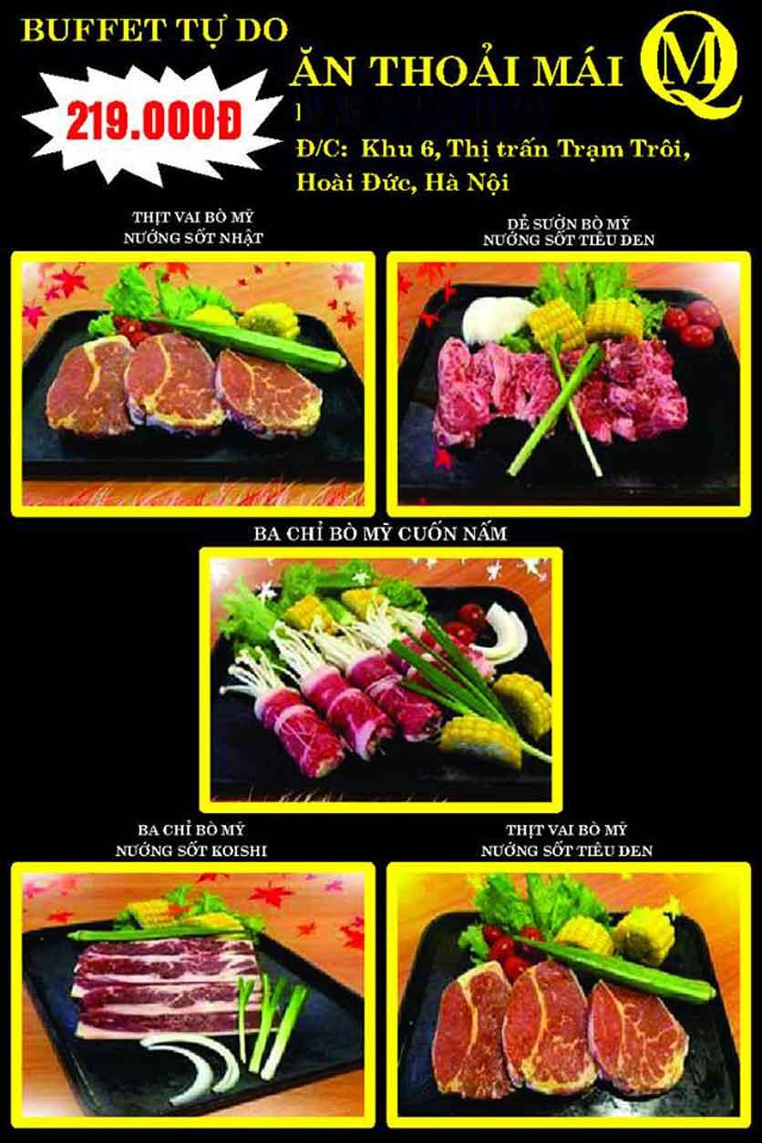 Menu Koishi BBQ – Hoài Đức 10