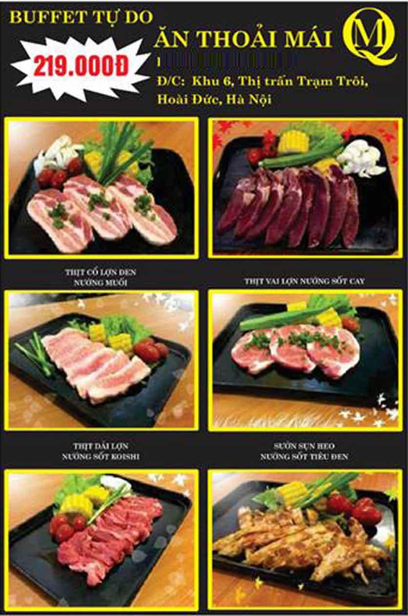 Menu Koishi BBQ – Hoài Đức 12