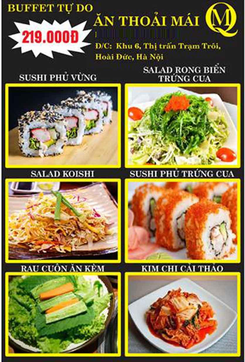 Menu Koishi BBQ – Hoài Đức 8