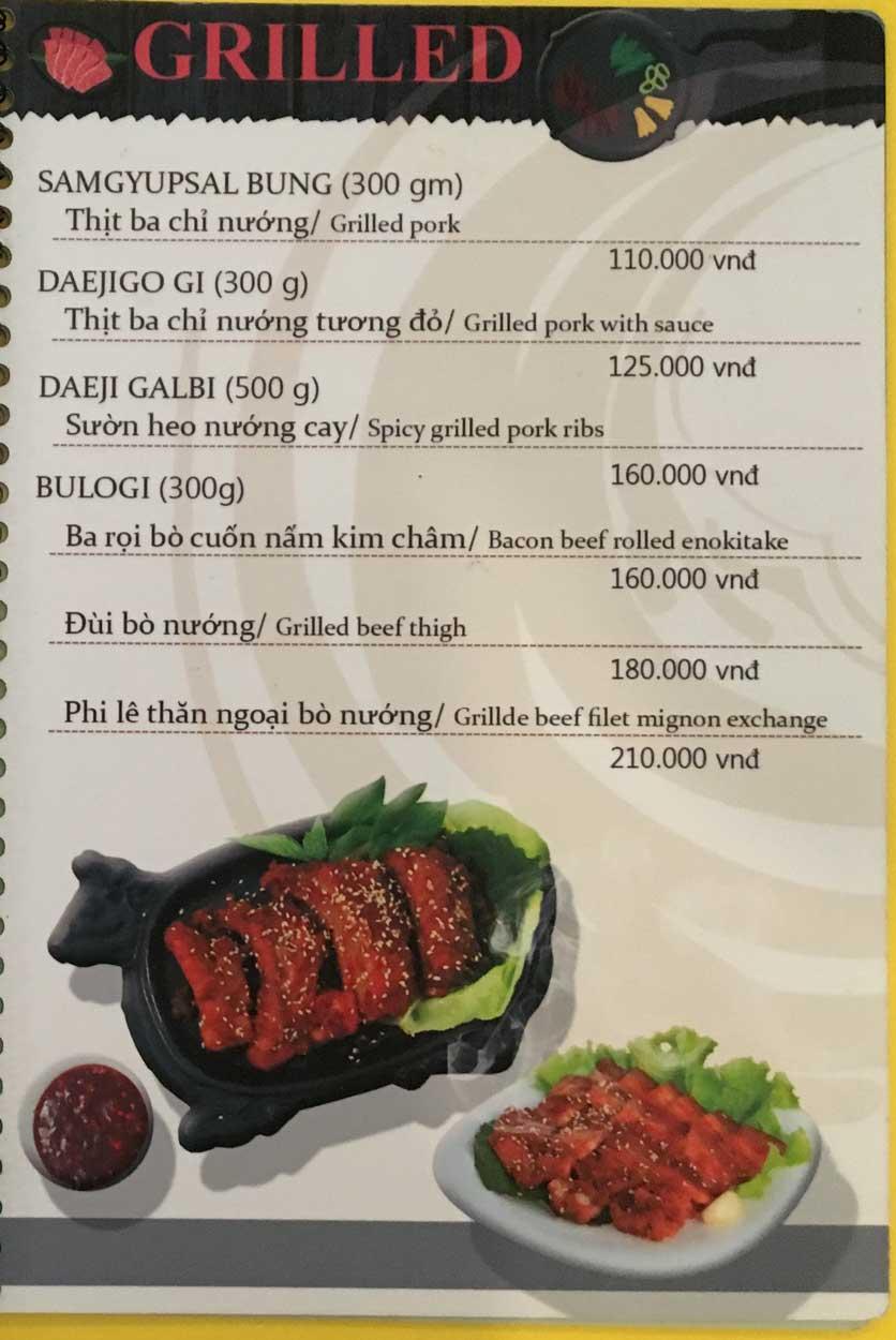 Menu Busan Korean Food - Bình Thạnh  10