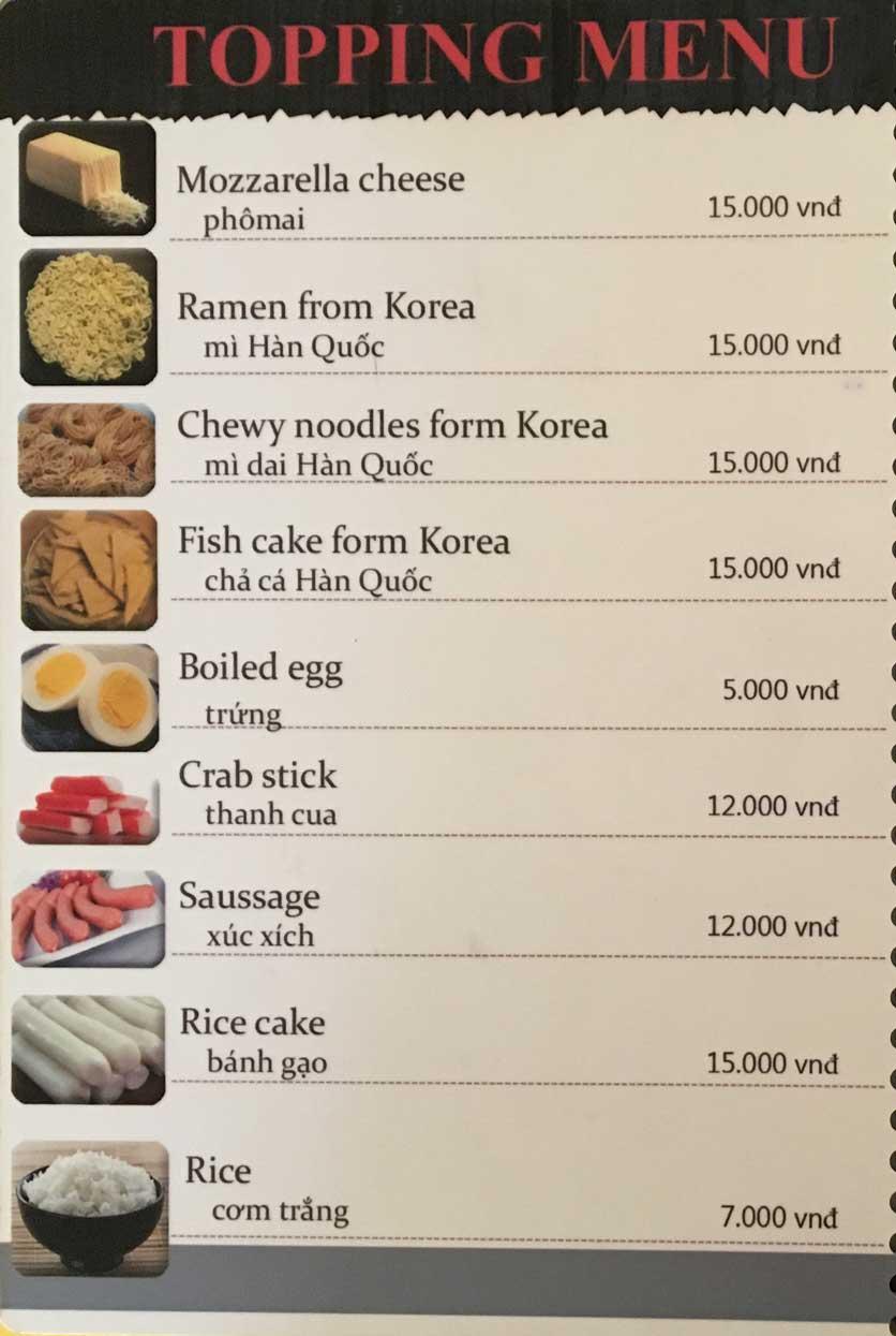 Menu Busan Korean Food - Bình Thạnh  11